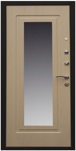 металлические двери с зеркалом марки престиж